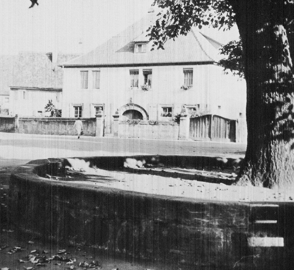 Schlösschen und Marktplatz-Linde, ca.1960