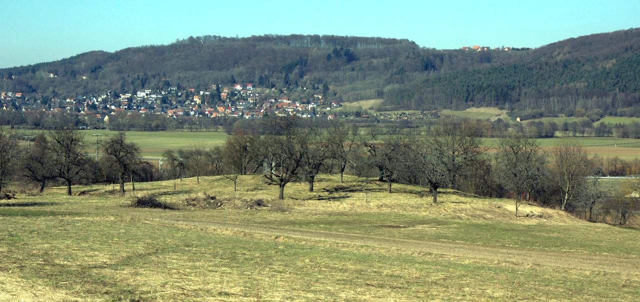 Das Bodendenkmal von Südosten im Winter, Wikipedia, Foto: Sven-121