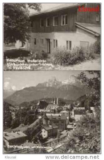 """Ansichtskarte mit Bild des Kinderheims """"Stadlerlehen"""" im oberen Teil.Das Gebäude existiert schon seit einigen Jahren nicht mehr."""