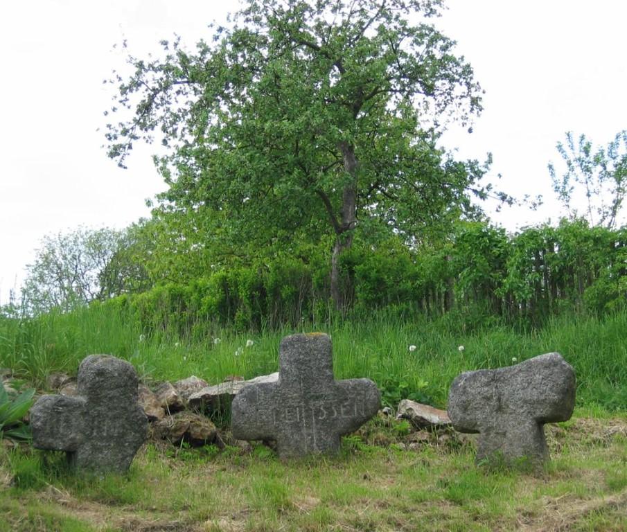 Die alten, leider verunstalteten Sühnekreuze