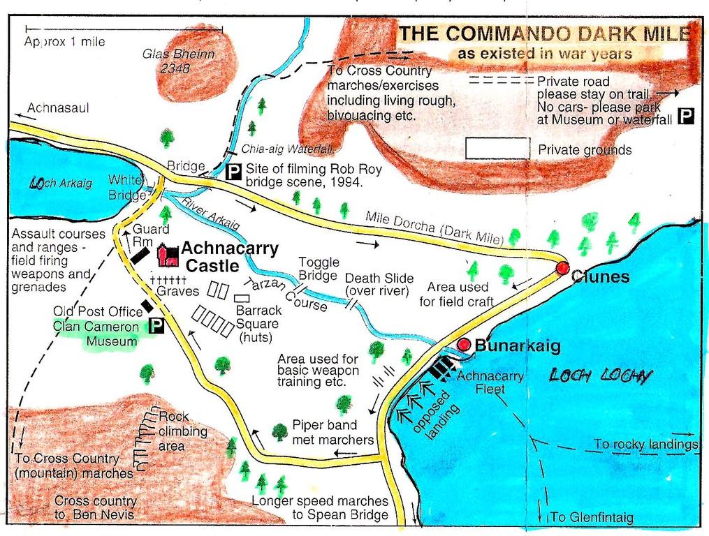 Der Commando Trail rund um das Schloss Achnacarry