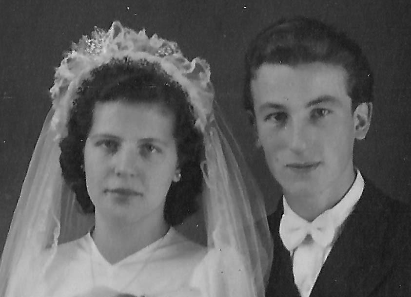 Hochzeit der Eltern, November 1948