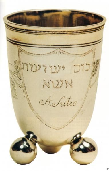 """Sutros Weinbecher für die Zeremonie zum Ende des Schabbat: """"Hawdala"""" = Unterscheidung."""