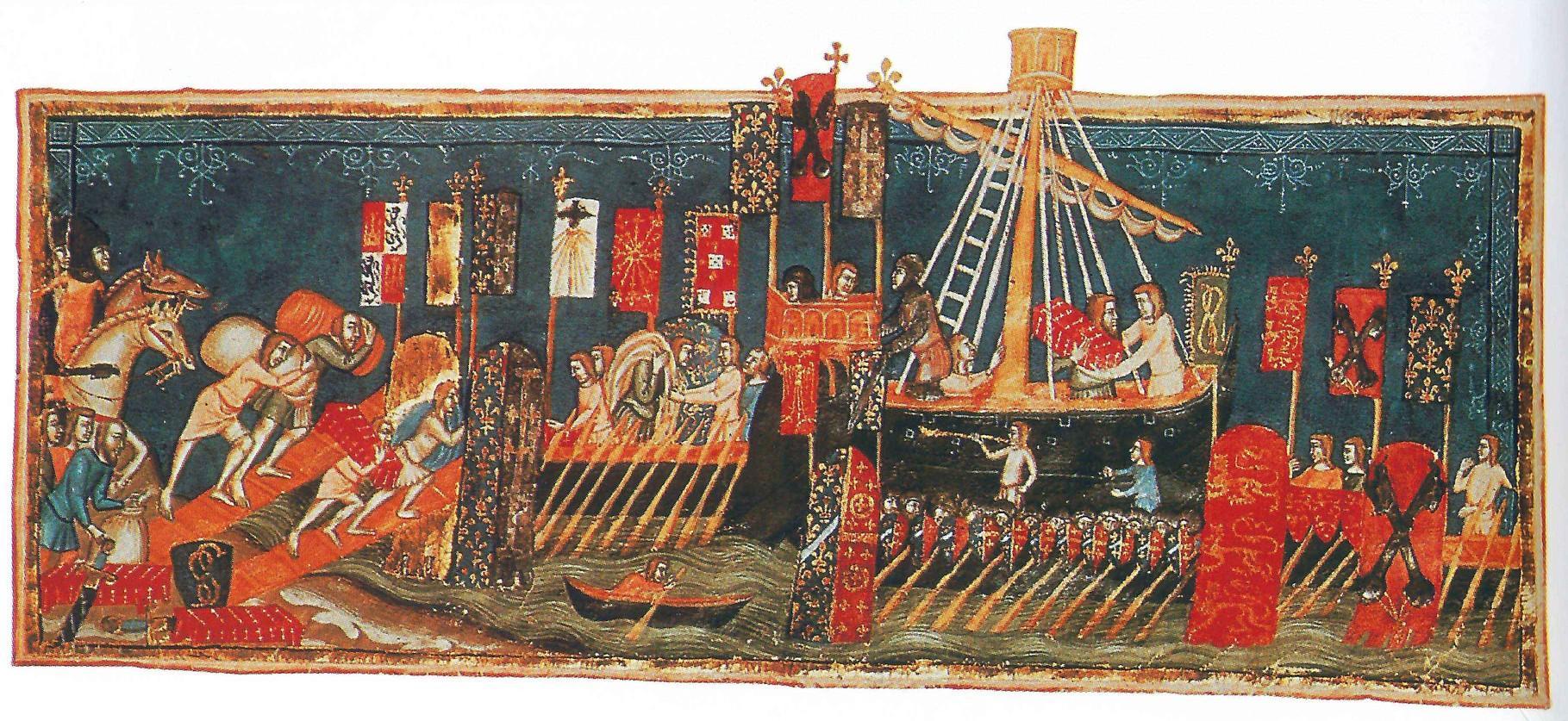Einschiffung von Kreuzfahrern
