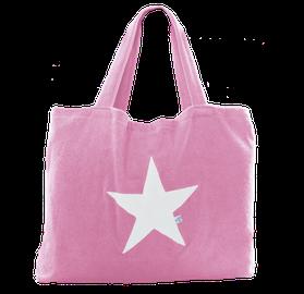 Beachbag soft pink Stern white,  Höhe: 50 cm, Breite: 64 cm, Höhe: 70 cm mit Träger Waschbar bei 30°C, 119€