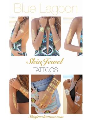 Skin Jewels Tatoos Set Blue Lagoon 29€
