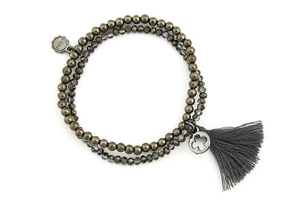 "Armband "" Wintertassel"" black 16€"