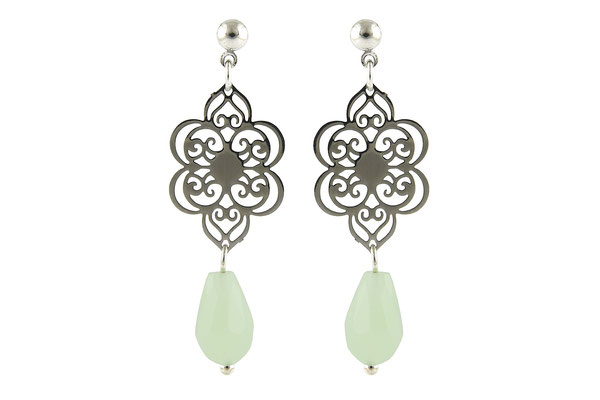 "Ohrringe "" Flower"" mint 19€ -20%"