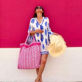 """Beachbag """"Ethno"""", Höhe: 55 cm, Breite: 63 cm, Höhe: 75 cm mit Träger, waschbar bei  30 Grad,  119€"""