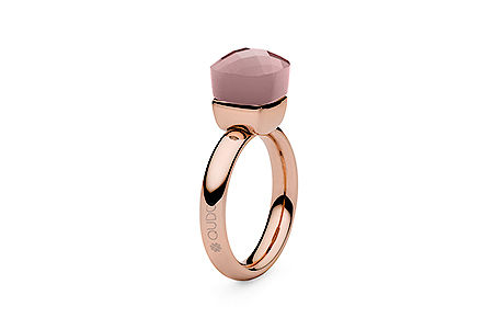 Ring rosegold, Gr 50-60, darkrose quartz opal, 49,90€, ab 2 Stück mixed colours 44,90€