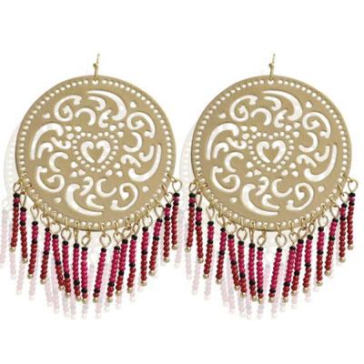 """Ohrringe """"Casablanca"""" pink  19€ - 50%  big 5cm Durchmesser"""