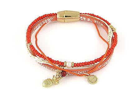 """Armband """"Pinapple"""" Coral 19€"""