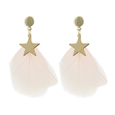 """Ohrringe """" Federstern"""", soft pink/gold , 19€ - 20%"""