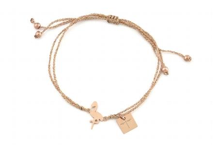 """Armband """"Flamingoisland"""" rosegold, 22€"""