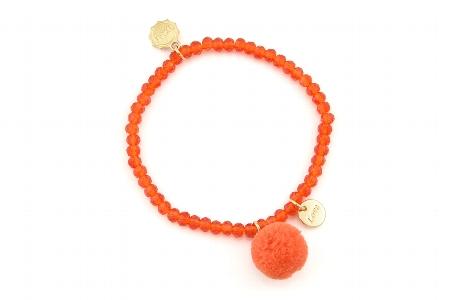 """Armband """"Single Pom Pom"""", orange, 14€"""