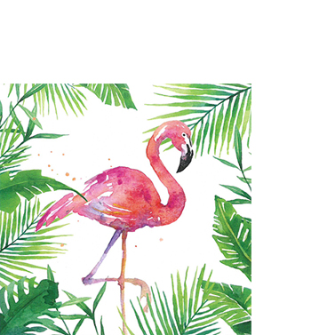 "Cocktailservietten ""Flamingo"" 25x25cm 3,90€"