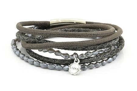 "Armband "" Wintertime"" grey/silver 24€"