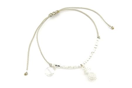 """Armband """"Shiny Pinapple"""" grey/silver 14€"""
