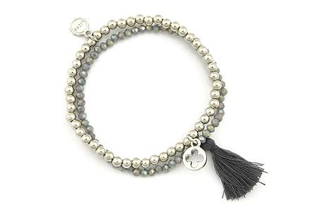 "Armband ""Wintertassel"" grey 16€"