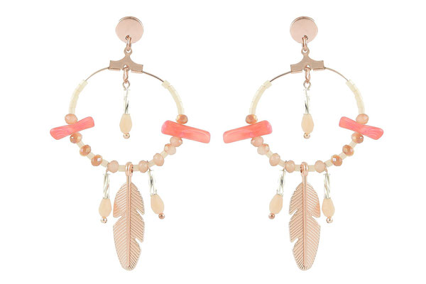 "Ohrringe "" Funky Feather"" coral 24€ -20%"