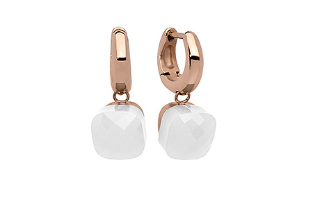 Ohrringe, rose, white opal  59,90€