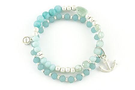 "Armband ""Heimathafen"" light blue 22€"