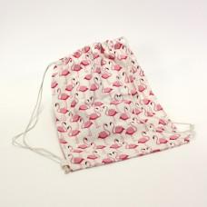 "Rucksack ""Flamingo"" Canvas, 35x45cm, 14,90€"