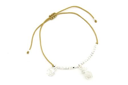 "Armband ""Shiny Pinapple"" beige/silver 14€"