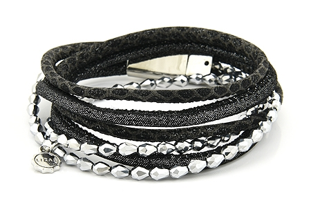"Armband ""Wintertime"" black/silver 24€"