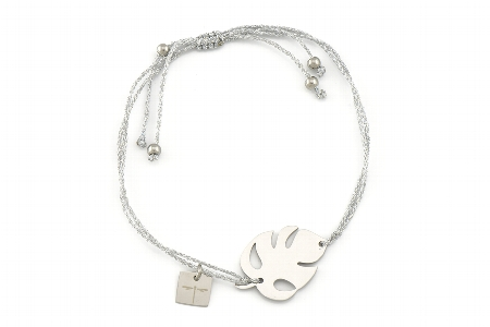 """Armband """"Leave"""" silber, 22€"""