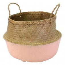 "Korb ""Ubud"", Seegras, D 40cm, soft pink 49€"