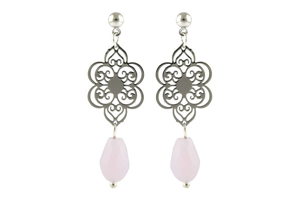 "Ohrringe "" Flower"" soft pink 19€ -20%"
