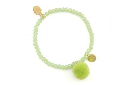 "Armband ""Single Pom Pom"", green, 14€"