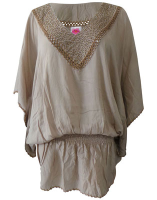 Dress Barbados, taupe/gold one size 59€ / -30%