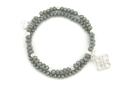 "Armband ""Kaminfeuer"" grey 19€"