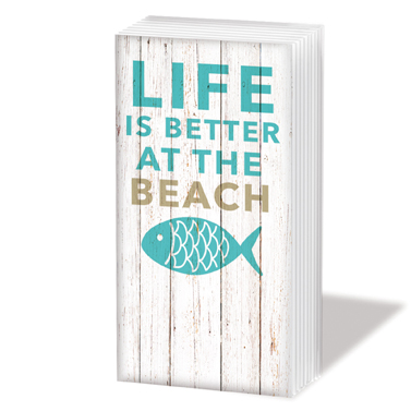 "Sniff Taschentücher ""Life is better at the beach"" 1,50€"