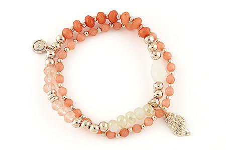 "Armband ""Muschelbank"" coral 22€"