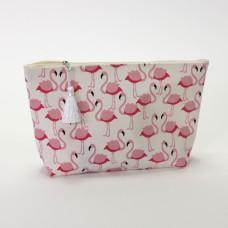 "Toiletbag ""Flamingo"", 25x8x20 cm, TC-Canvas 14,90€"