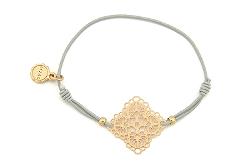 "Armband ""Herbst Flower"" grey/gold  16€"