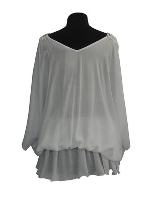 Dress Palma weiß, groß geschnittene one size, 59€ /  -50%  auch in mocha erhältlich