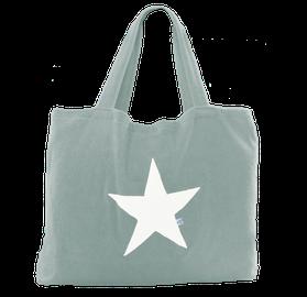 Beachbag mint Stern white,  Höhe: 50 cm, Breite: 64 cm, Höhe: 70 cm mit Träger Waschbar bei 30°C, 119€