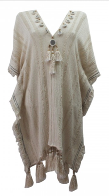 Miss June Kaftan Otis, erhältlich in ecru und black (sold out), one size, 100% cotton 146€ -30%