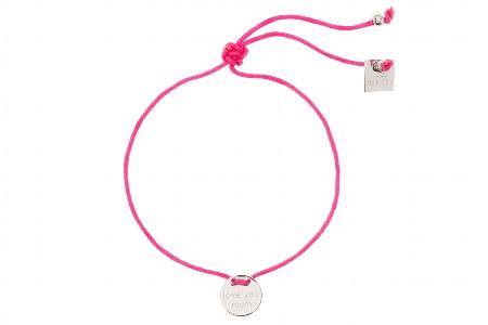 "Armband ""Love you mum"", pink/silver,  22€"