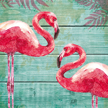 "Servietten ""Summer Flamingo""  33x33cm 4,60€"