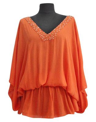 Dress Palma orange, groß geschnittene one size, 59€ /  -50%  auch in mocha erhältlich