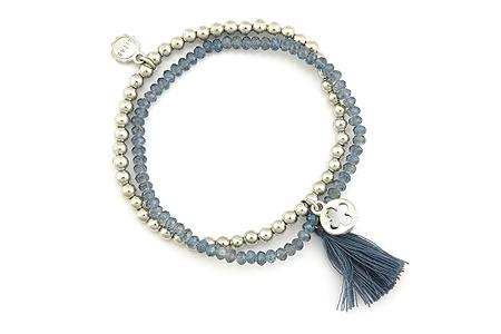 "Armband ""Wintertassel"" blue 16€"
