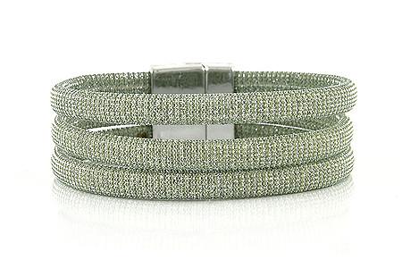 """Armband """" Triple"""" khaki/silver, 22€"""