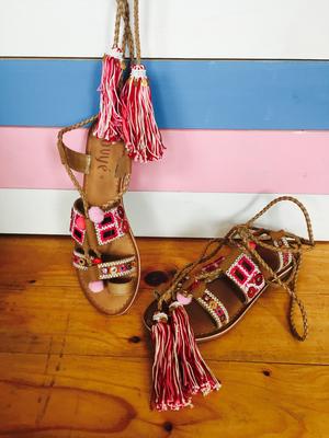"""Sandalen Leder """"Big Tassel"""" pink Gr 36,37,40   99€ / -50%"""