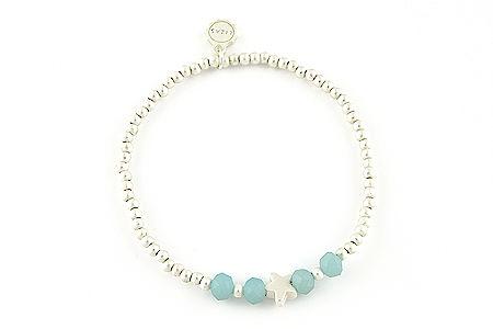"Armband ""Starfish"" light blue 14€"