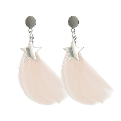 """Ohrringe """" Federstern"""", soft pink/ silber , 19€ - 20%"""